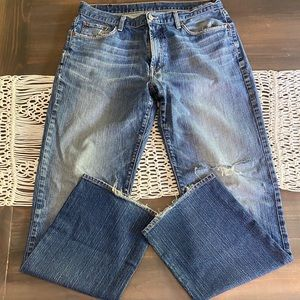 Lucky Brand bootcut distressed jeans 34x32